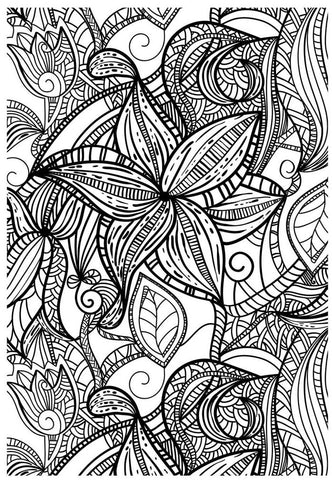 FREE Coloring Pages Flowers Style 5