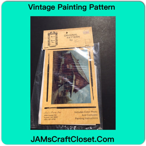 Vintage DIY Painting Packet #31 Red Brick Country Store JAMsCraftCloset