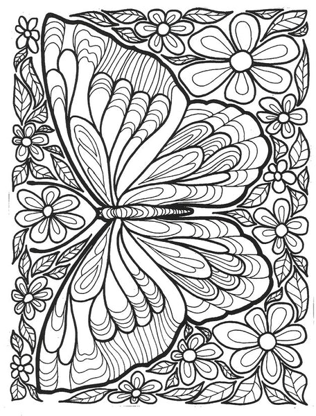 FREE Coloring Pages Animals and Insects Style 2