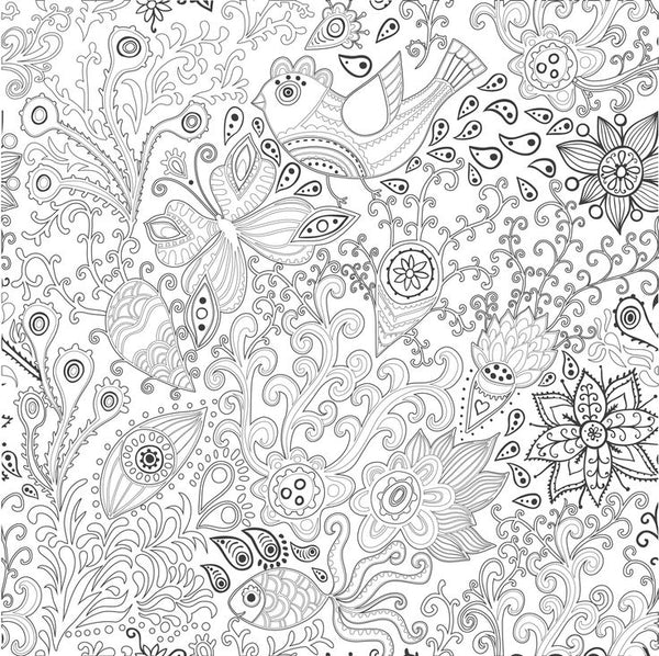 FREE Coloring Pages Flowers Style 6