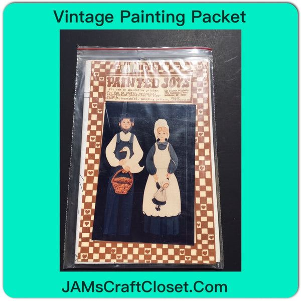 Vintage DIY Painting Packet #4 Amish Farmer and Wife Holding Basket and Doll JAMsCraftCloset