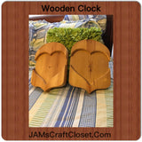 Clock Wooden Unfinished #4 Vintage Handmade by My DAD - JAMsCraftCloset