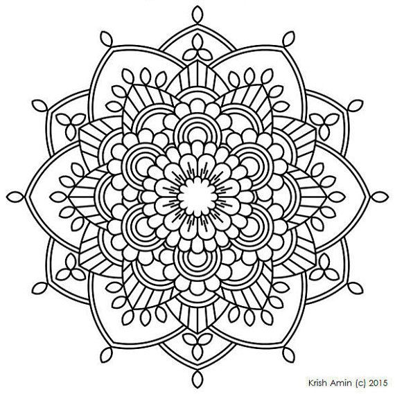 FREE Coloring Pages Celestial Mandala Style 3