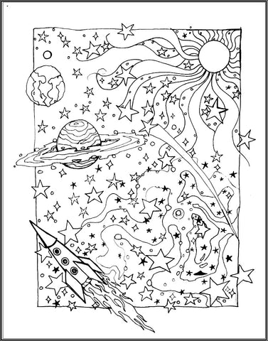 FREE Coloring Pages Science Style 8