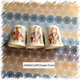 Thimbles #8 Vintage Bears SET of 3