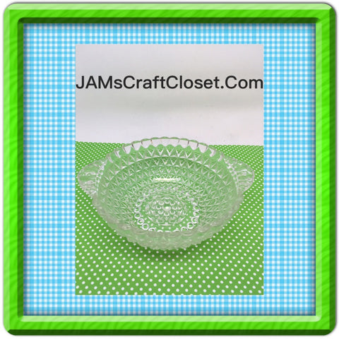SMALL Glass Bowl Candy Dish Knobby Hobnail Glass Vintage Home Decor Country Decor