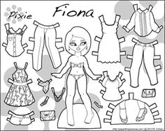 FREE Coloring Pages Paper Doll Patterns Style 3