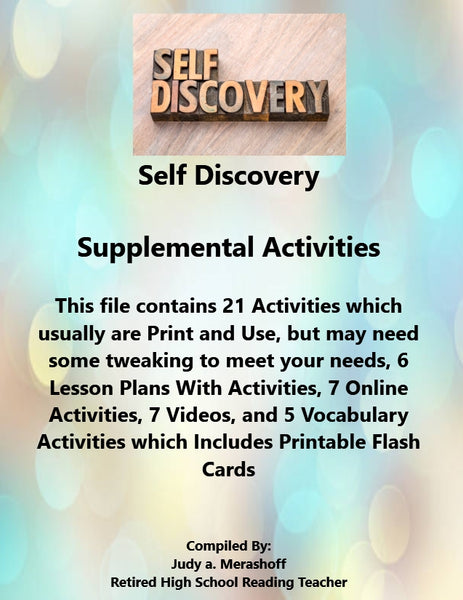 SELF DISCOVERY Supplemental Activities Teacher Resources