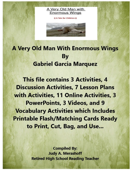 A Very Old Man With Enormous Wings Gabriel Garcia Marquez Teacher Supplemental Resources JAMsCraftCloset