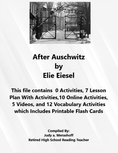 Florida Collection 8th Grade Collection 5 After Auschwitz by Elie Wiesel Supplemental Activities JAMsCraftCloset