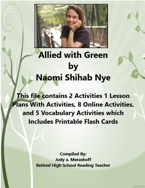Allied with Green by Naomi Shihab Nye 7th Grade Florida Collections 3 Supplemental Activities JAMsCraftCloset