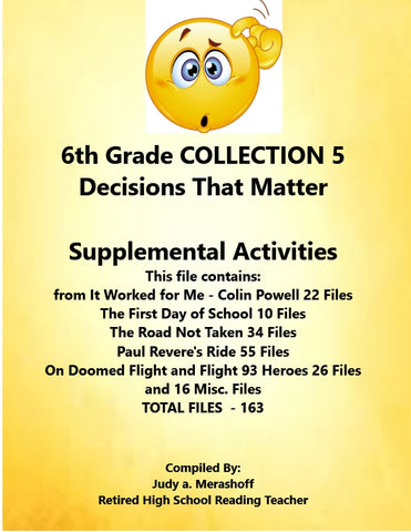 Florida Collections 6th Grade Collection 5 DECISIONS THAT MATTER Supplemental Activities 5 Passages JAMsCraftCloset