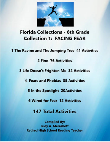 Florida Collections 6th Grade Collection 1 FACING FEAR Supplemental Activities 6 Passages JAMsCraftCloset