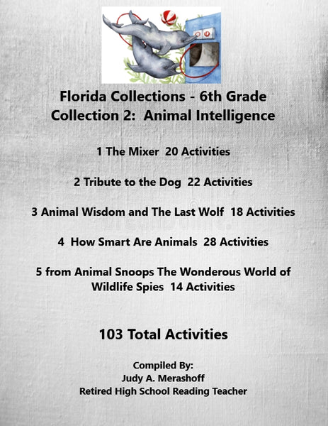 Florida Collections 6th Grade Collection 2 ANIMAL INTELLIGENCE Supplemental Activities 5 Passages JAMsCraftCloset