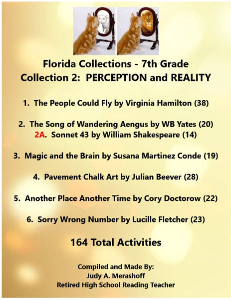 Florida Collections GRADE 7 Collection 2 PERCEPTION and REALITY Supplemental Activities JAMsCraftCloset