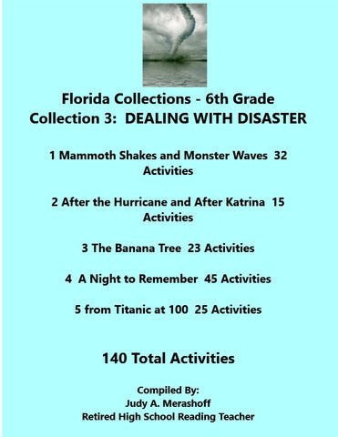 Florida Collections 6th Grade Collection 3 DEALING WITH DISASTER Supplemental Activities 5 Passages JAMsCraftCloset