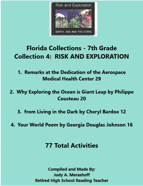 Florida Collections 7th Grade Collection 4 RISK AND EXPLORATION Supplemental Activities JAMsCraftCloset