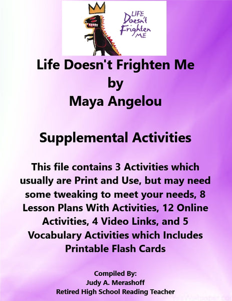 Florida Collections 6th Grade Collection 1 Life Doesnt Frighten Me Supplemental Activities JAMsCraftCloset