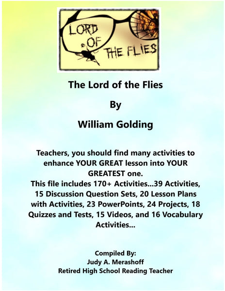 Lord of the Flies By William Golding Teacher Supplemental Resources Fun Engaging - JAMsCraftCloset
