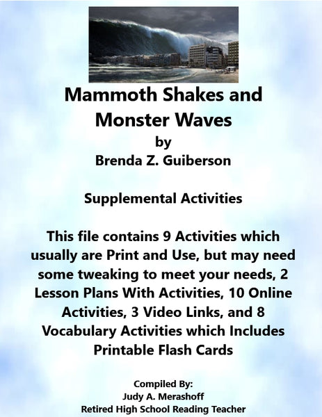 Florida Collections 6th Grade Collection 3 Mammoth Shakes Monster Waves Supplemental Activities JAMsCraftCloset