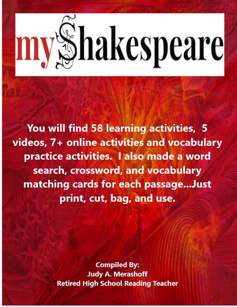 My Shakespeare by Kate Tempest from HMH 9th Grade Textbook Collection 4 - JAMsCraftCloset