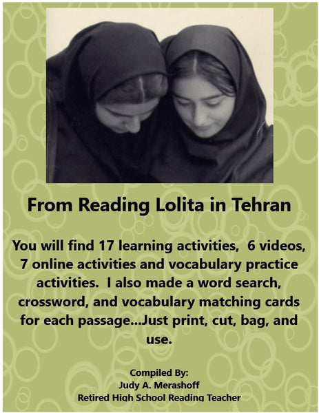 Reading Lolita in Tehran from HMH 9th Grade Textbook Collection 2 JAMsCraftCloset