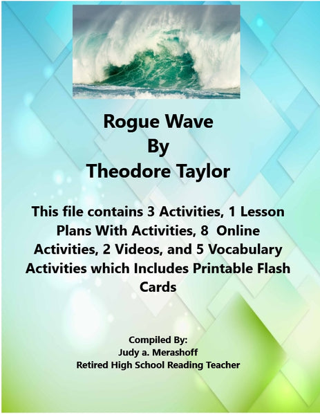 Florida Collection 7th Grade Collection 1 Rogue Wave by Theodore Taylor Supplemental Activities JAMsCraftCloset