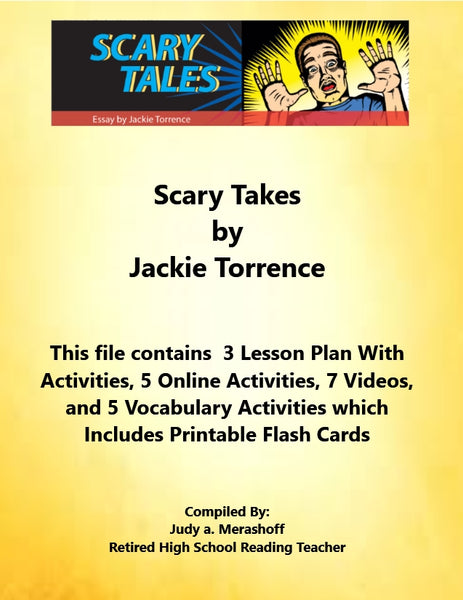 Florida Collection 8th Grade Collection 2 Scary Stories by Jackie Torrence Supplemental Activities JAMsCraftCloset