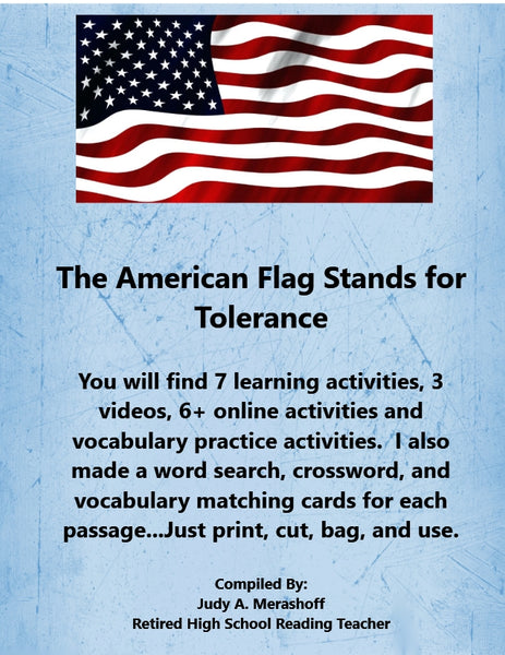 American Flag Stands for Tolerance from HMH 10th Grade Textbook Collection 1 JAMsCraftCloset