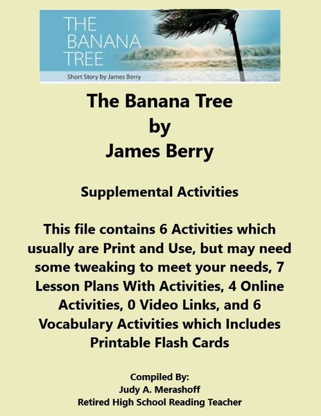 Florida Collections 6th Grade Collection 3 The Banana Tree Supplemental Activities JAMsCraftCloset