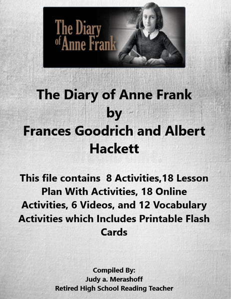 Florida Collection 8th Grade Collection 5 The Diary of Anne Frank Supplemental Activities JAMsCraftCloset