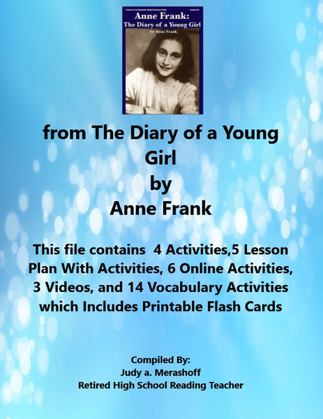 Florida Collection 8th Grade Collection 5 from The Diary of a Young Girl by Anne Frank Supplemental Activities JAMsCraftCloset