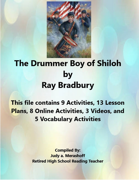 Florida Collection 8th Grade Collection 3 The Drummer Boy of Shiloh Supplemental Activities JAMsCraftCloset