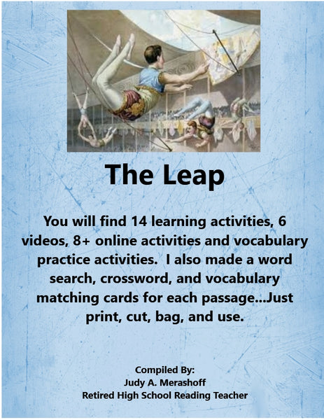 The Leap by Louise Erdrich from HMH 9th Grade Textbook Collection 5 Supplemental Resources JAMsCraftCloset