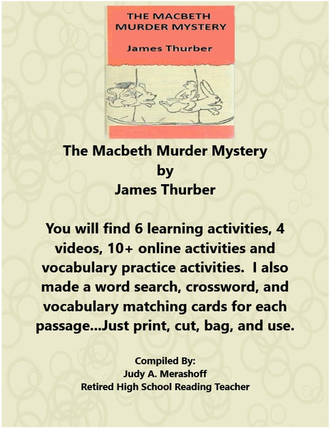 The Macbeth Murder Mystery from HMH 10th Grade Collection 5 Supplemental Resources JAMsCraftCloset
