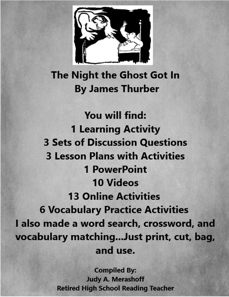 The Night the Ghost Got In by James Thurber Supplemental Resources JAMsCraftCloset