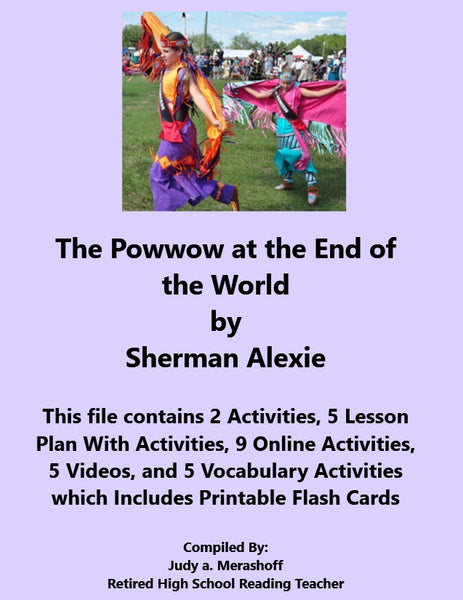 Florida Collection 8th Grade Collection 1 The Powwow at the End of the World Supplemental Activities JAMsCraftCloset