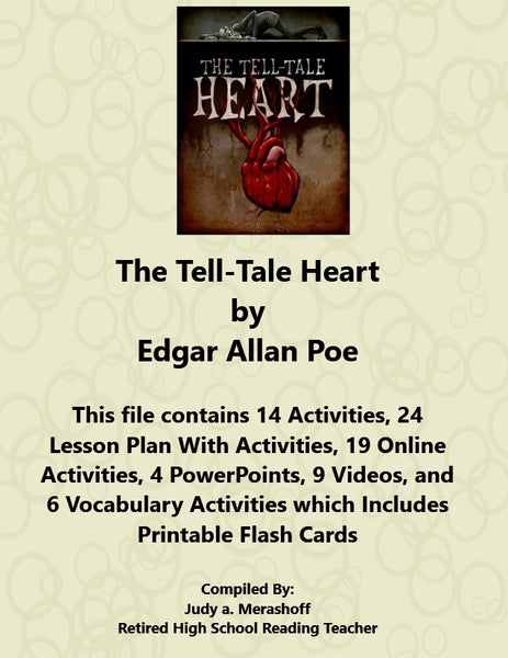 Florida Collection 8th Grade Collection 2 The Tell Tale Heart by Edgar Allan Poe Supplemental Activities JAMsCraftCloset