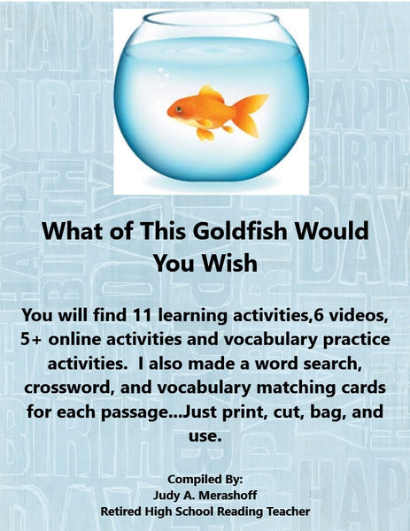 What of This Goldfish Do You Wish from HMH 10th Grade Textbook Collection 1 JAMsCraftCloset