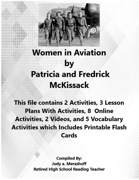 Florida Collection 7th Grade Collection 1 Women in Aviation by Patricia and Fredrick McKissack Supplemental Activities JAMsCraftCloset