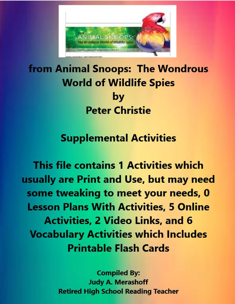 Florida Collections 6th Grade Collection 2 from Animal Snoops Wondrous Wildlife Spies Supplemental Activities JAMsCraftCloset
