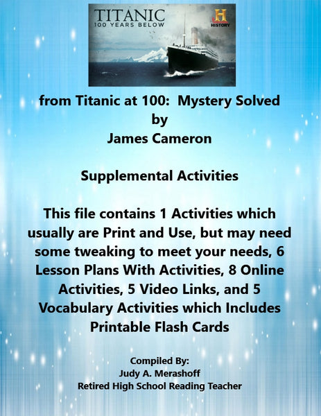 Florida Collections 6th Grade Collection 3 from Titanic at 100 Mystery Solved Supplemental Activities JAMsCraftCloset