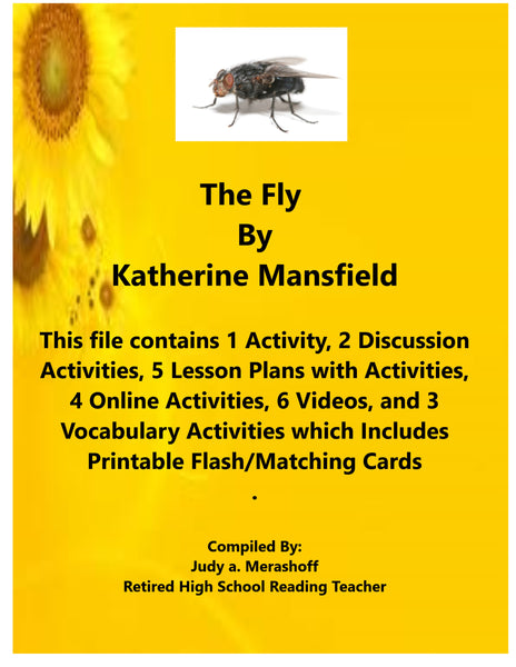The Fly By Kathrine Mansfield  Short Story Supplemental Resources Activities JAMsCraftCloset