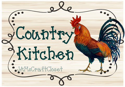 COUNTRY KITCHEN ROOSTER - DIGITAL GRAPHICS  My digital SVG, PNG and JPEG Graphic downloads for the creative crafter are graphic files for those that use the Sublimation or Waterslide techniques - JAMsCraftCloset