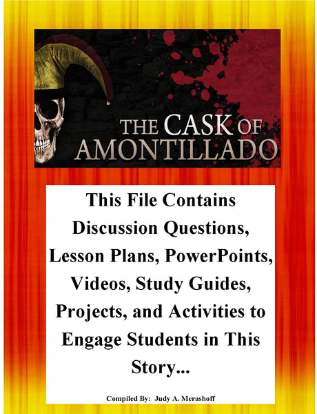 The Cask of Amontillado By Edgar Allan Poe Teacher Supplemental Resources JAMsCraftCloset