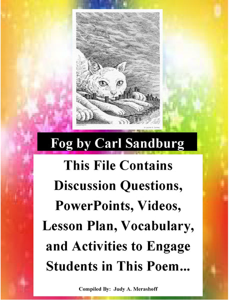 Fog by Carl Sandburg Teacher Supplemental Resources Fun Engaging JAMsCraftCloset