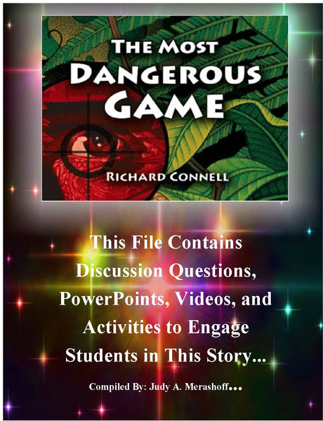 The Most Dangerous Game by Richard Connell Teacher Supplemental Resources JAMsCraftCloset