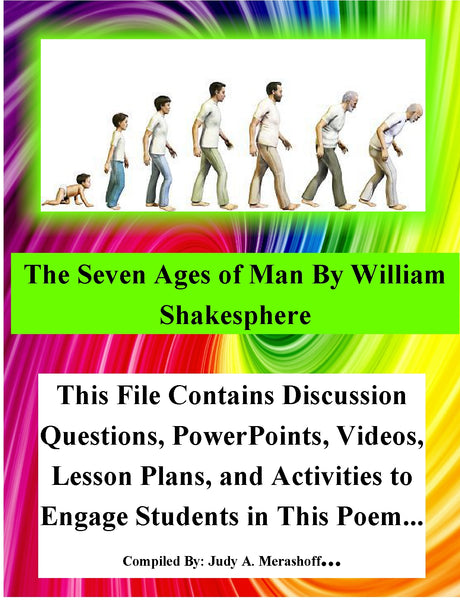 The Seven Ages of Man by William Shakesphere Teacher Supplemental Resources Fun JAMsCraftCloset