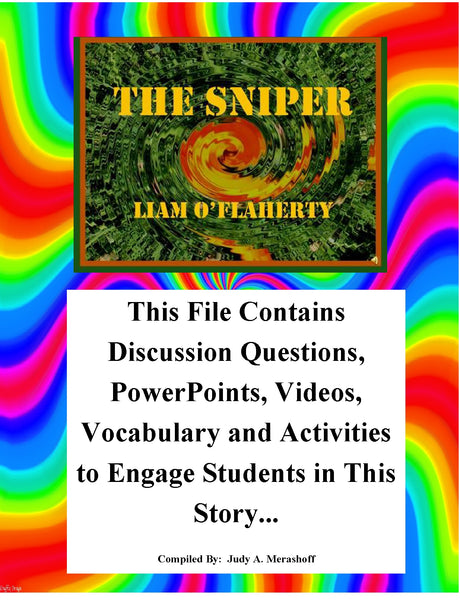 The Sniper by Liam O Flaherty Teacher Supplemental Resources Fun Engaging JAMsCraftCloset