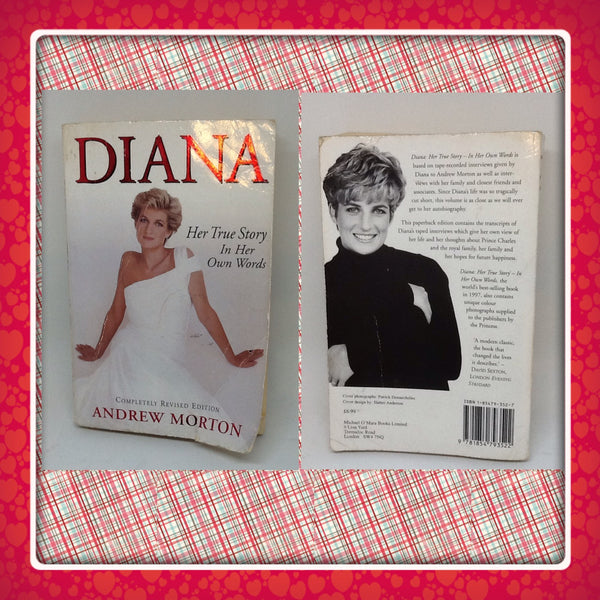 Book Princess Diana Book Vintage Life of Diana Table Coffee Table Bathroom In Her Own Words - JAMsCraftCloset